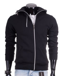 Black men's hooded Carlo Lamon