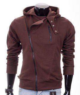Grey men's hooded Carlo Lamon