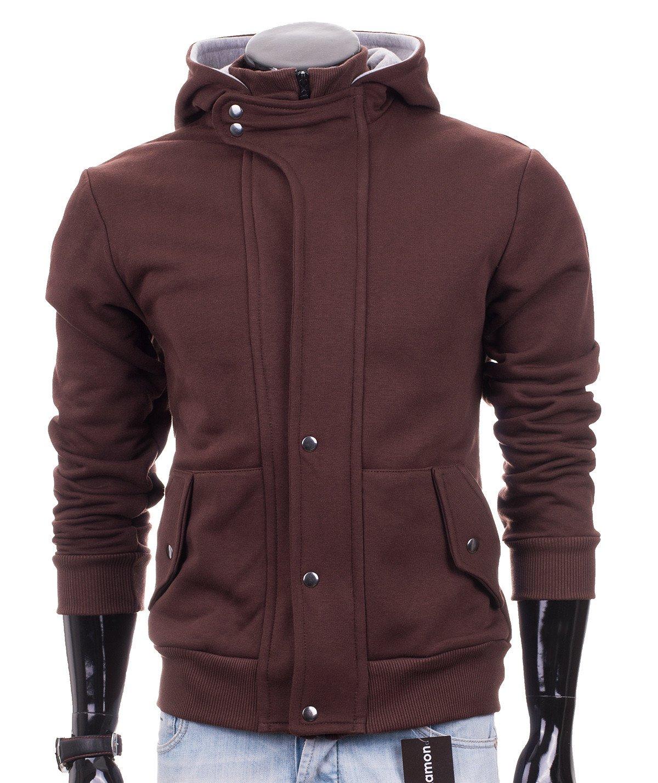 Brown zip hoodie