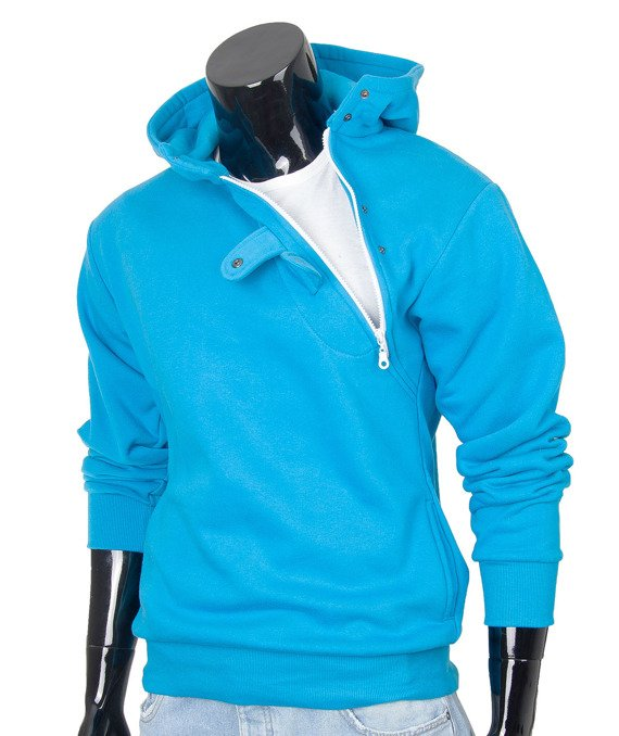 Blue men's hoodie sweatshirt Carlo Lamon