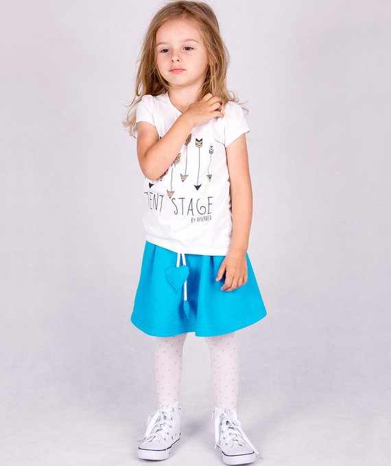 Fashionable blue kid's skirt Carlo Lamon
