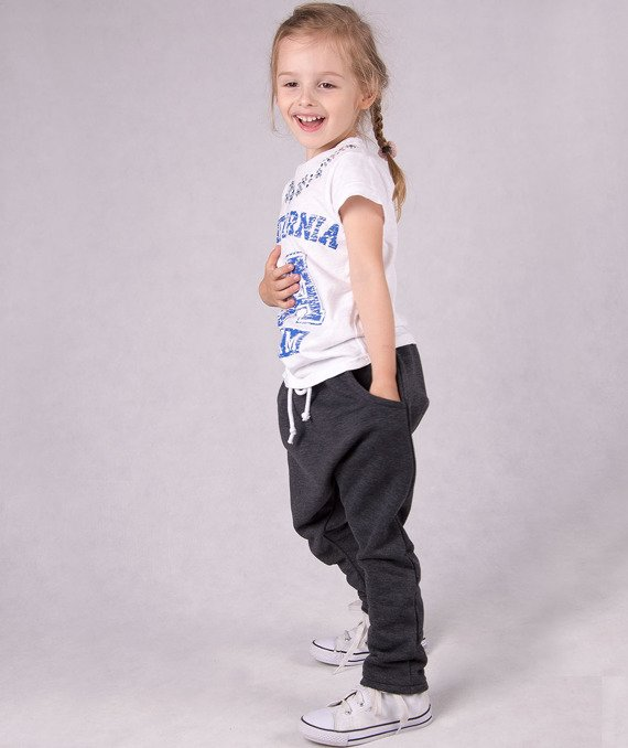 Graphite knitted kids trousers CARLO LAMON