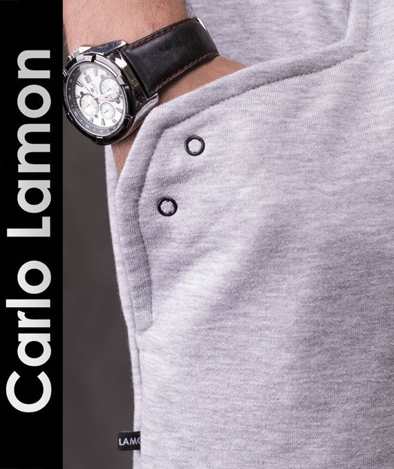 Original gray men's hoodie Carlo Lamon