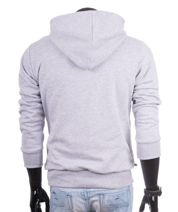 Original gray men's hoodie sweatshirt Carlo Lamon
