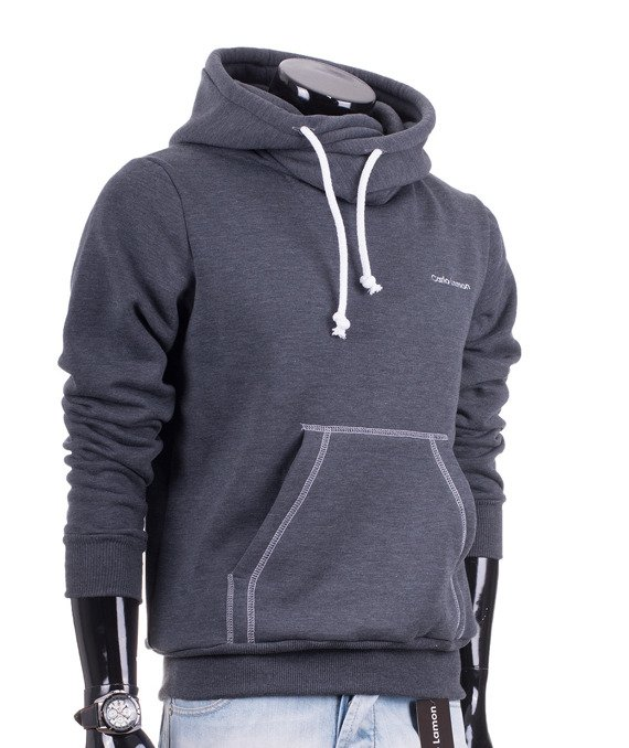Dark grey men's hoodie  Carlo Lamon