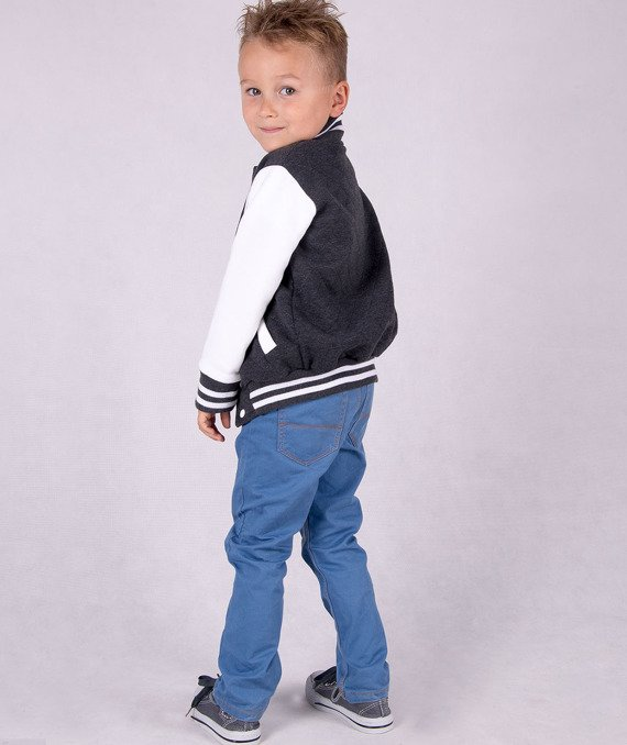 Graphite knitted kids jacket Carlo Lamon