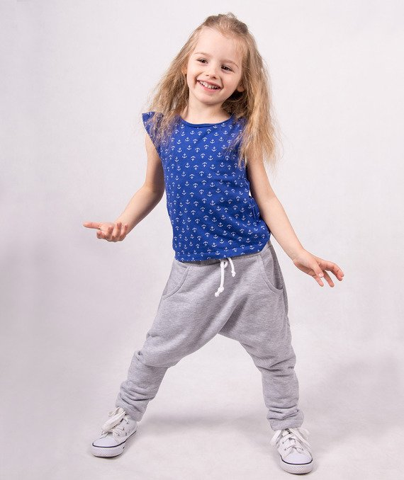 Grey knitted kids trousers CARLO LAMON