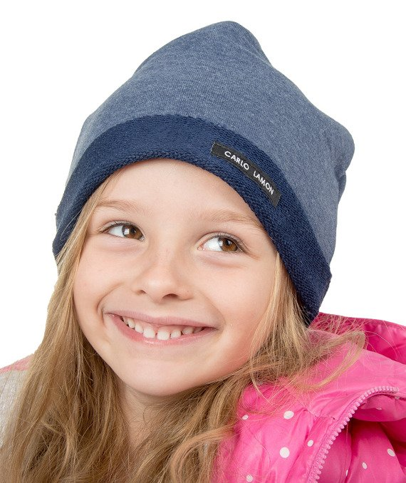 Navy knitted kids hat CARLO LAMON