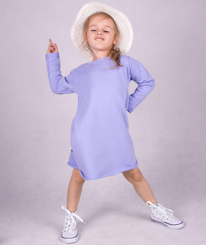 666b926b89 Fioletowa dresowa sukienka dziecięca Carlo Lamon Kliknij