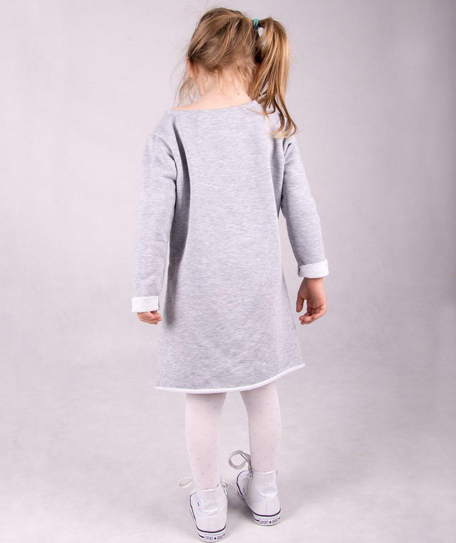 a3e6aa06ef ... Szara dresowa sukienka dziecięca Carlo Lamon Kliknij